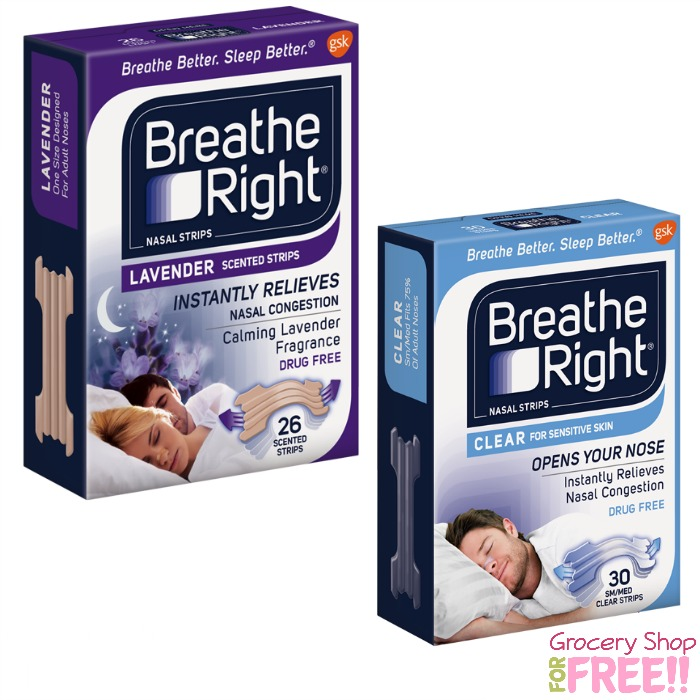 FREE Breathe Right Sample!  2 Choices!