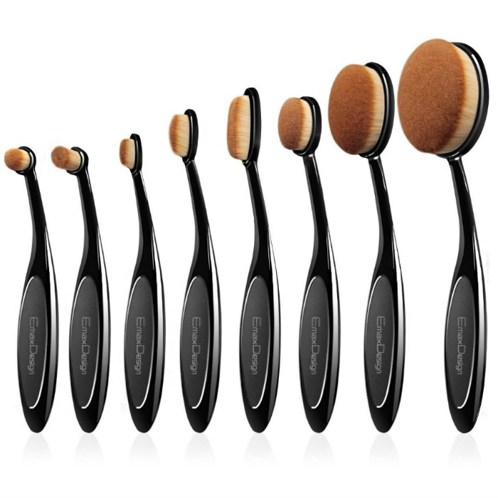 EmaxDesign 8 Pieces Oval Makeup Brush Set Just $14.99! Down From $60!