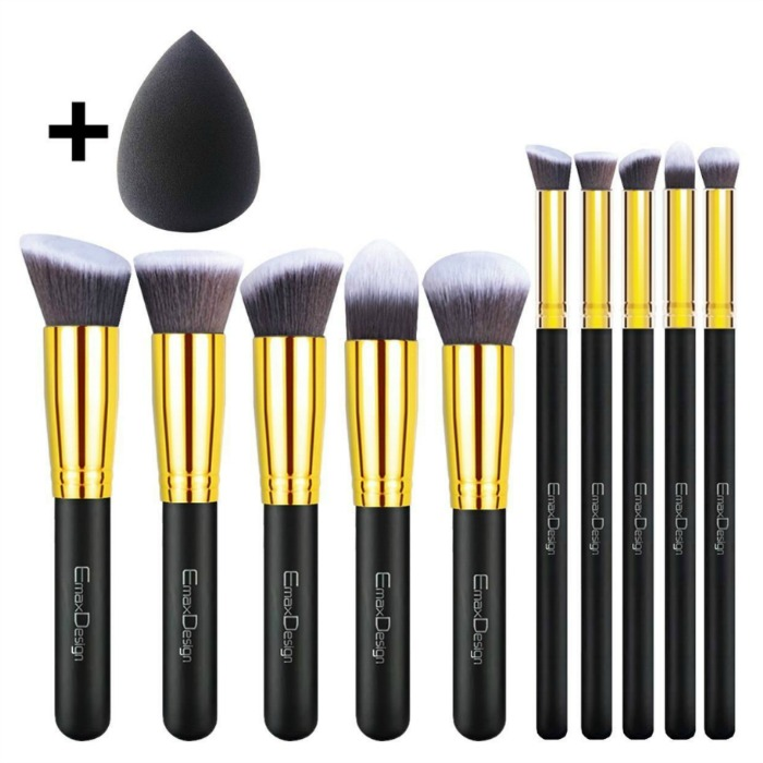 EmaxDesign 10+1 Pieces Makeup Brush Set Just $11.99! Down From $40!