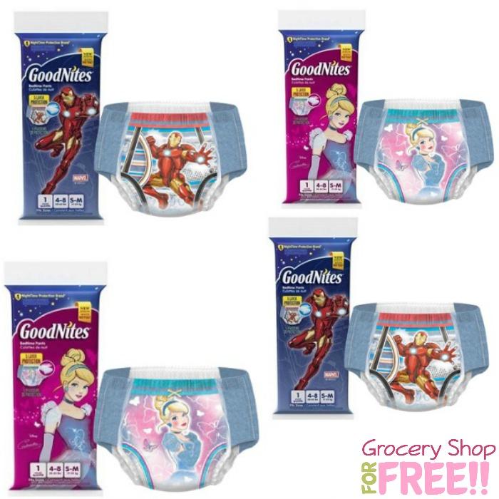 FREE Sample Goodnites Bedtime Pants