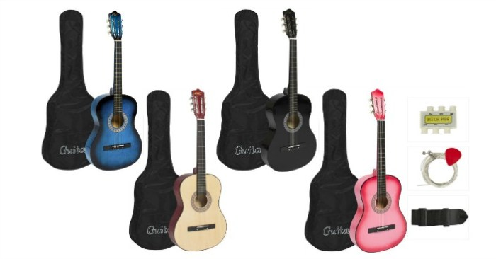 New Beginners Acoustic Guitar Kits Just $36.94! Down From $75!