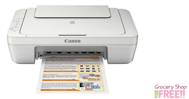 Canon PIXMA MG2520 Inkjet All-In-One Color Printer Just $12.99!  Plus FREE Shipping!