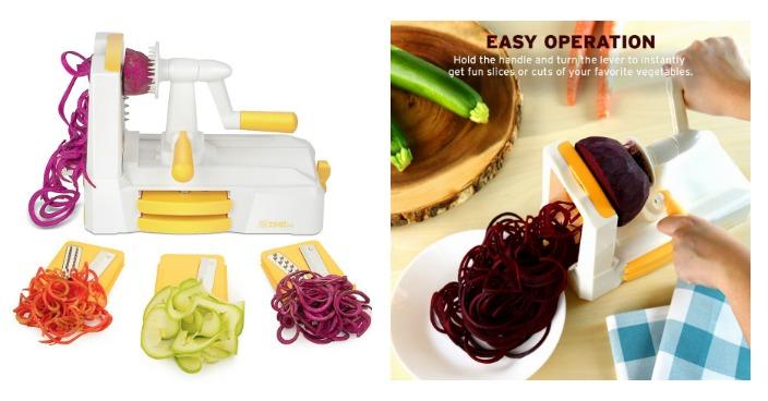 Zestkit Tri-Blade Vegetable Slicer Just $18.99! Down From $40!