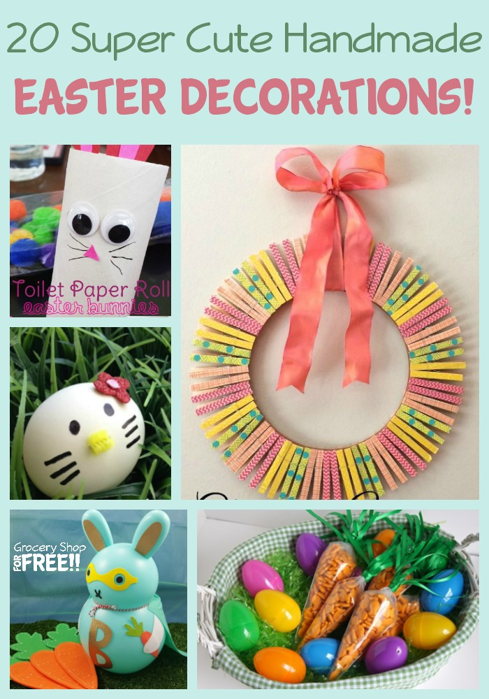 Homemade handmade decorations and crafts are always the best for family events, and projects.  They help create great family memories and traditions!  These 20 Super Cute Homemade Handmade Easter Decorations and Crafts definitely fit the bill!