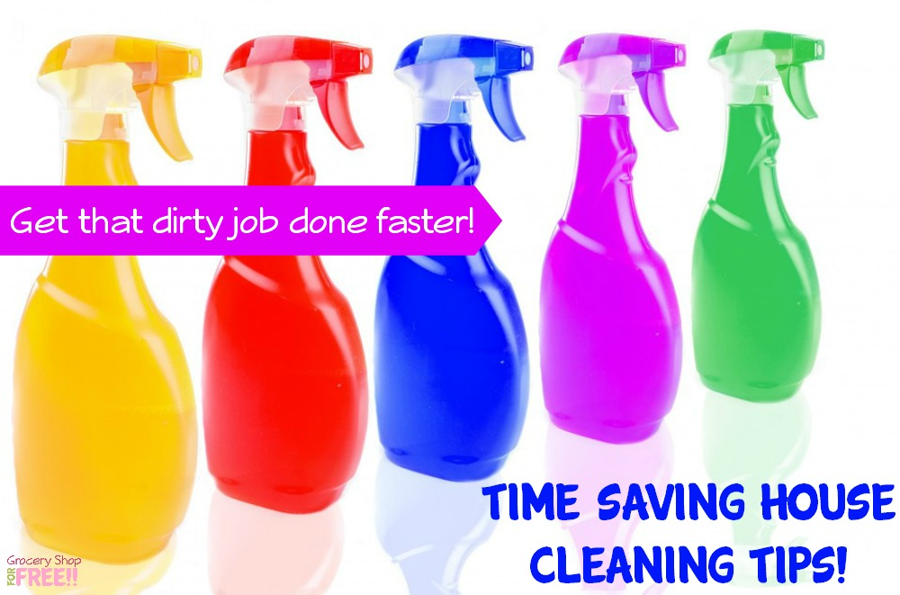 Looking for time saving house cleaning tips?  These quick housecleaning tips also include a house cleaning schedule so you can always have a clean house!