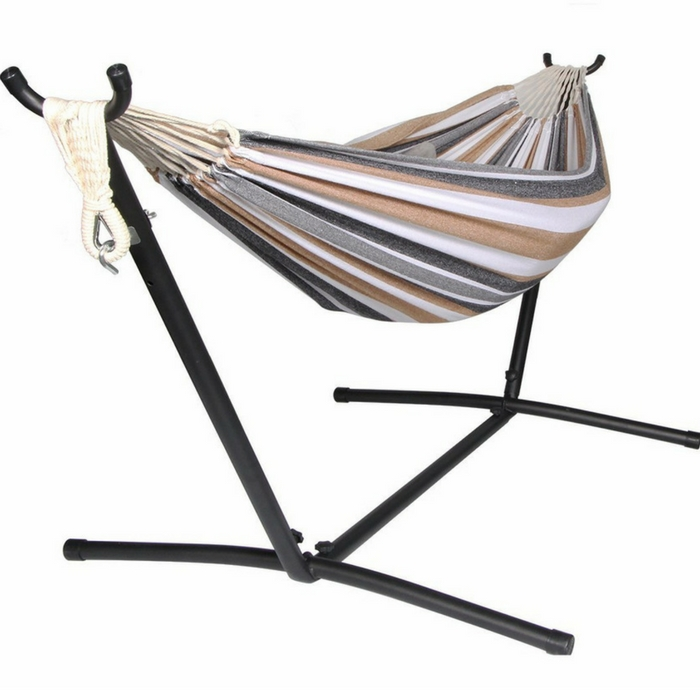 Unionline Denim Double Hammock With Stand Just $59.99! Down From $158! PLUS FREE Shipping!