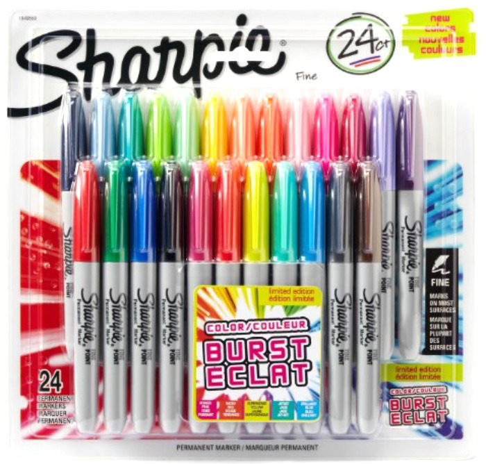 Sharpie Color Burst Marker 24pk Just $11.09!  Down From $23!