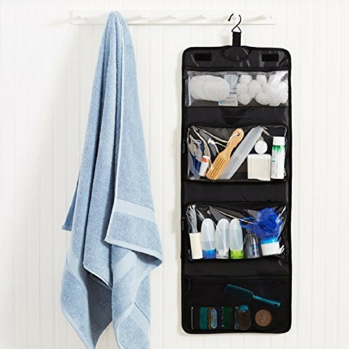 Tri-Fold Hanging Cosmetics & Toiletry Kit Just $3.64! Down From $19!