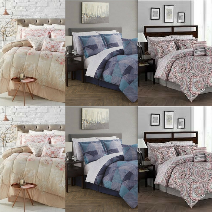 12-Piece Reversible Comforter Set Just $47.99! Down From $160! PLUS FREE Shipping! TODAY ONLY!
