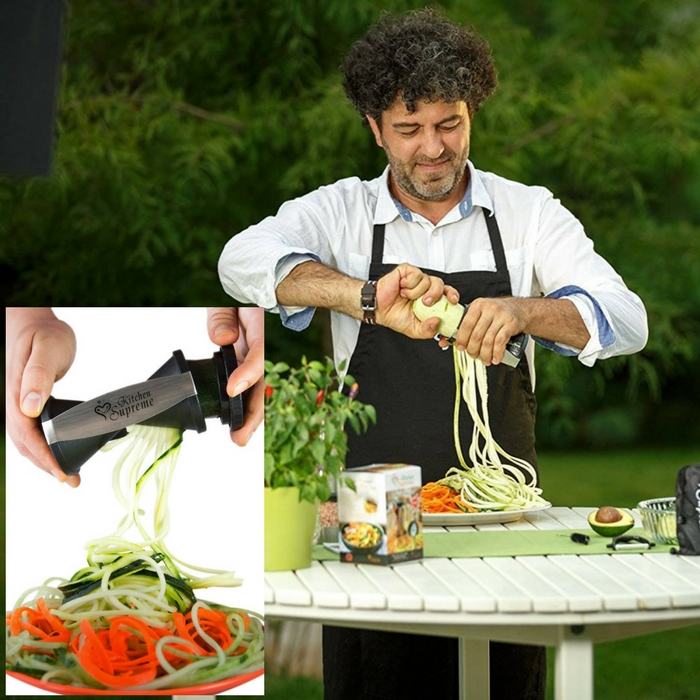 Vegetable Spiralizer And Cutter Just $14.84! Down From $40!