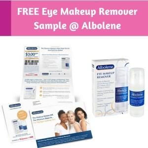 FREE Sample Albolene Eye Makeup Remover!