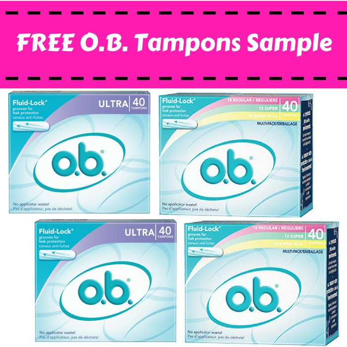 FREE Full-Size O.B. Tampons!