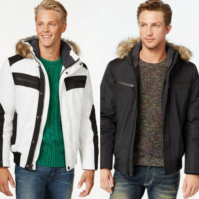 Men's Hooded Faux Fur Jacket Just $15.99! Down From $200!