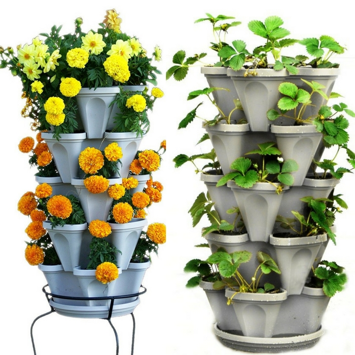 5 Tier Stackable Planter Just $29.97! Down From $60!