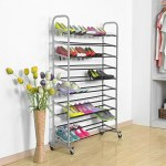 50-Pair Rolling Shoe Rack Just $25.76! Down From $42!