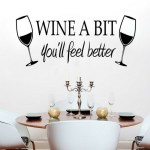 Wine A Bit, You'll Feel Better Vinyl Wall Decal Just $1.98! PLUS FREE Shipping!