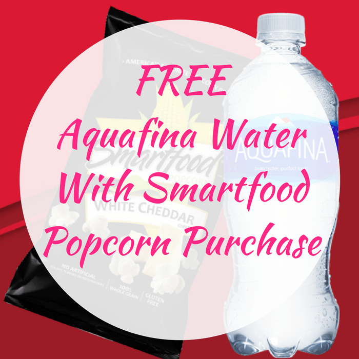 FREE Aquafina Water With Smartfood Popcorn Purchase!