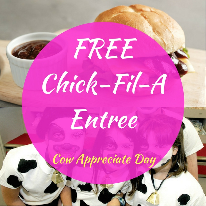 FREE Chick-Fil-A Entree! TODAY ONLY!