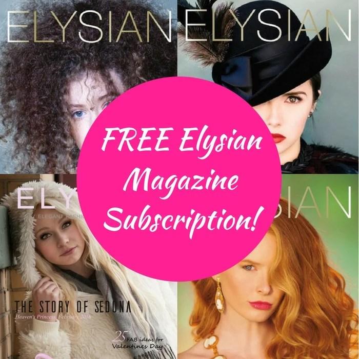 FREE Elysian Magazine Subscription!
