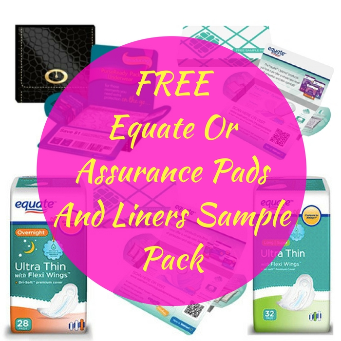 FREE Equate Or Assurance Pads And Liners Sample Pack!