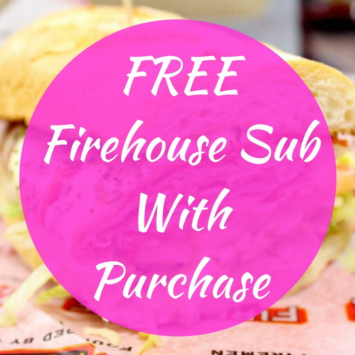 FREE Firehouse Sub With Purchase!