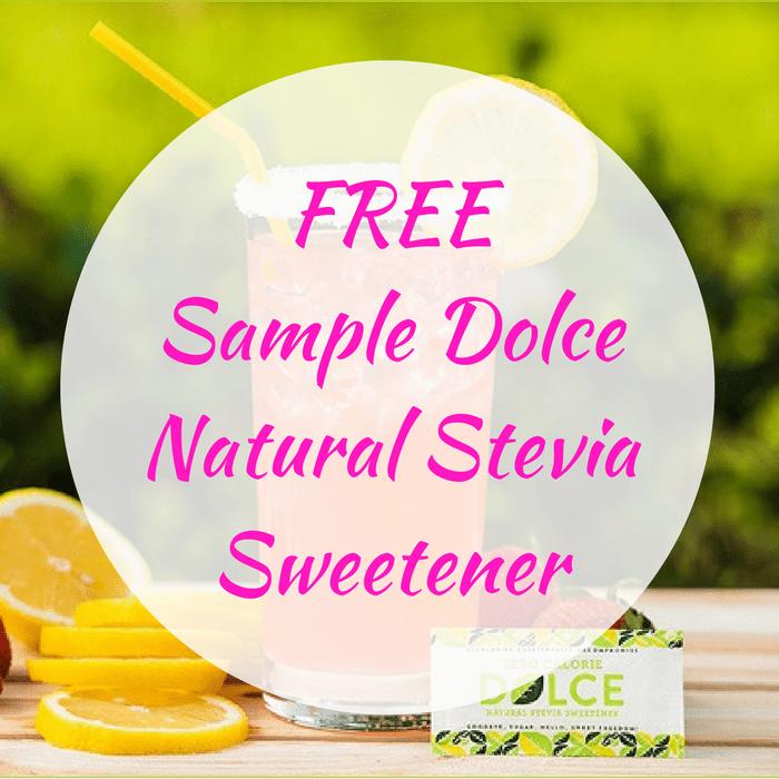 FREE Sample Dolce Natural Stevia Sweetener!