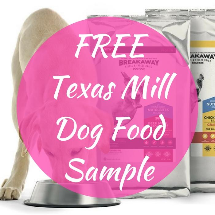 FREE Texas Mill Dog Food Sample!