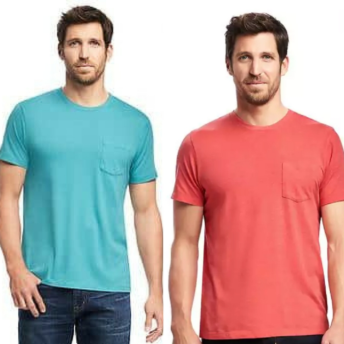 Crew-Neck Pocket Men's Tee Just $6! Down from $12!