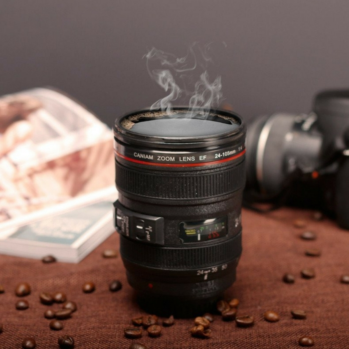 Camera-Lens Coffee Mug With Lid Just $8.99! Down From $25!