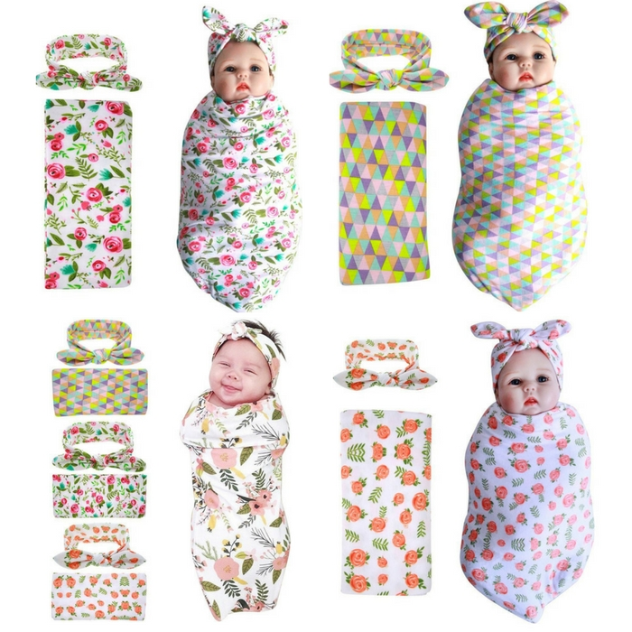 3-Pack Swaddle & Headband Set Just $21.49! Down From $40!
