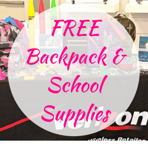 FREE Backpack & School Supplies! TODAY ONLY!