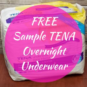 FREE Sample TENA Overnight Underwear!