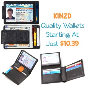 Kinzd Wallets Starting At Just $10.39 With Code!