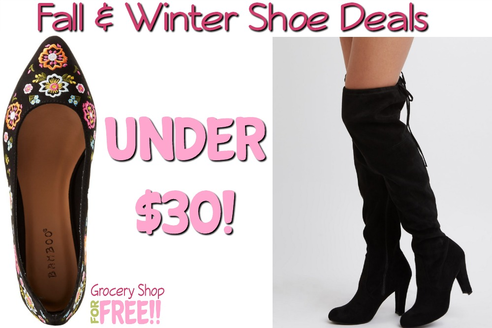 Fall & Winter Shoes Under $30!