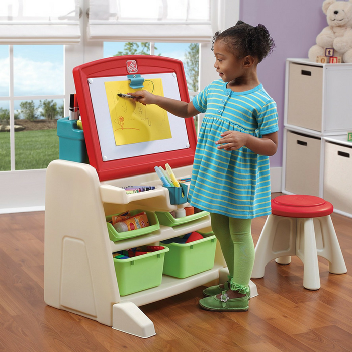 Step2 Flip And Doodle Easel Desk With Stool Just $49.99! Down From $65! PLUS FREE Shipping!