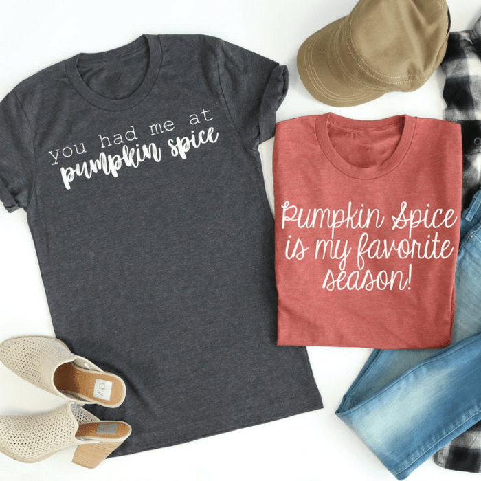 Pumpkin Spice Tees Just $13.99! Down From $28!