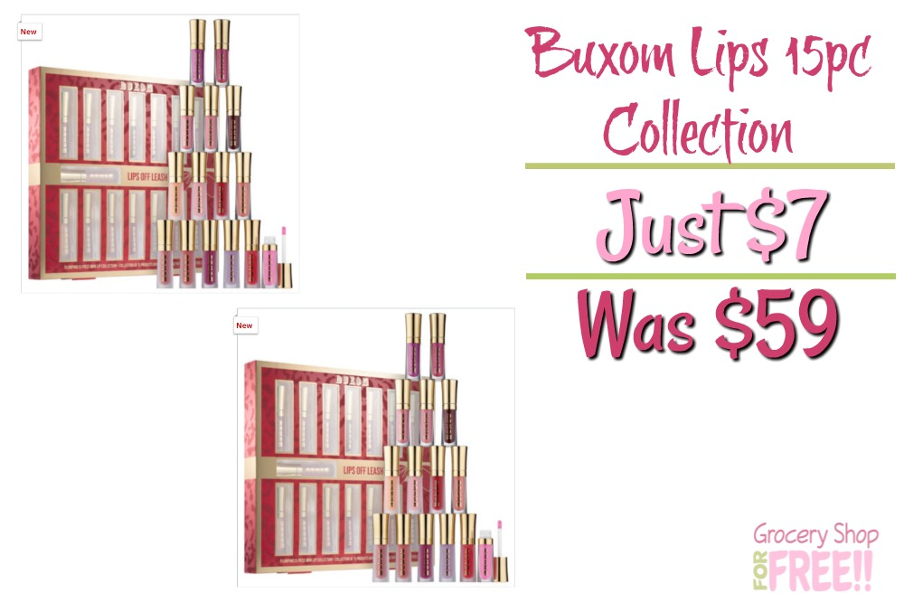 Buxom Lips Off Leash™ Plumping 15pc Lip Collection Just $7! Was $59!