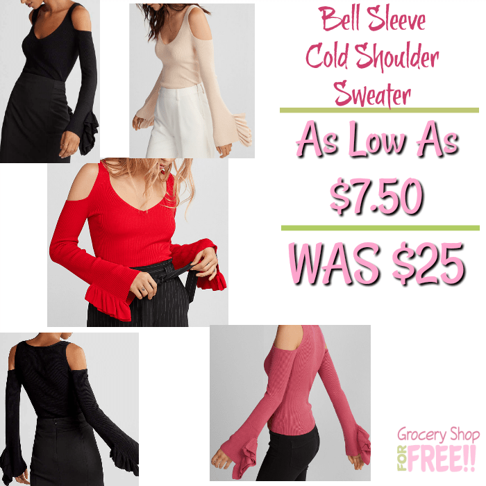 Bell Sleeve Sweater Just $10.50! Down From $60!