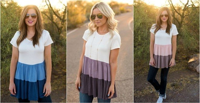 Tiered Babydoll Tunic - Was $45.00 - Now $21.99