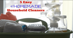 5 Easy Homemade Household Cleaners!