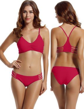 Strap Side Bottom, Halter Racerback Top Bikini Only $21.55! (Was $85)