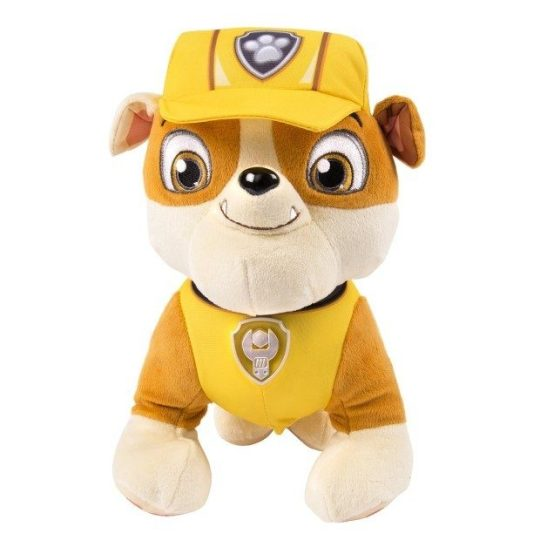 Paw Patrol Deluxe Lights and Sounds Plush - Real Talking Rubble Only $12.58 (Reg. $24.99)!