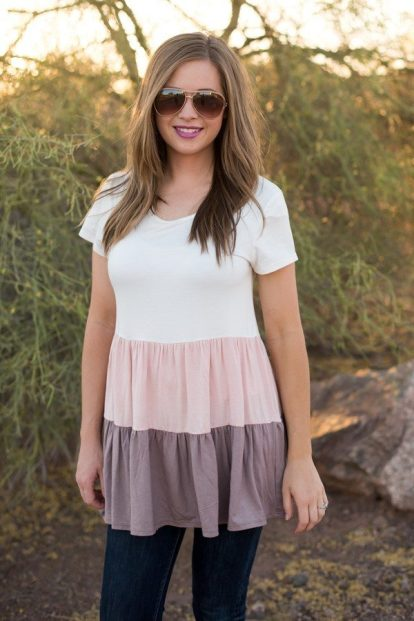 Tiered Babydoll Tunic Only $21.99! Down From $45.00!