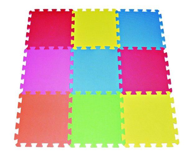 9 Tile Multi Color Kids Safety Play Floor Just $11.68! (Reg. $40)