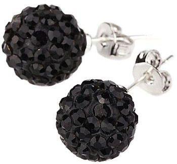 Black Crystal 2 Carat Stud Earrings