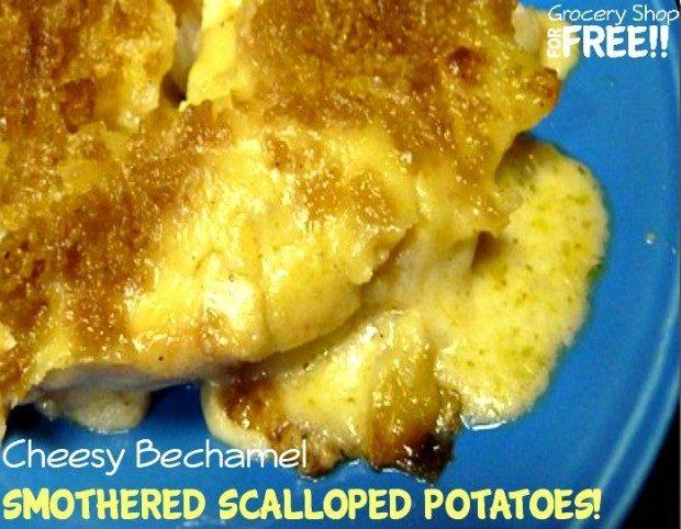 Cheesy Bechamel Smothered Scalloped Potatoes!