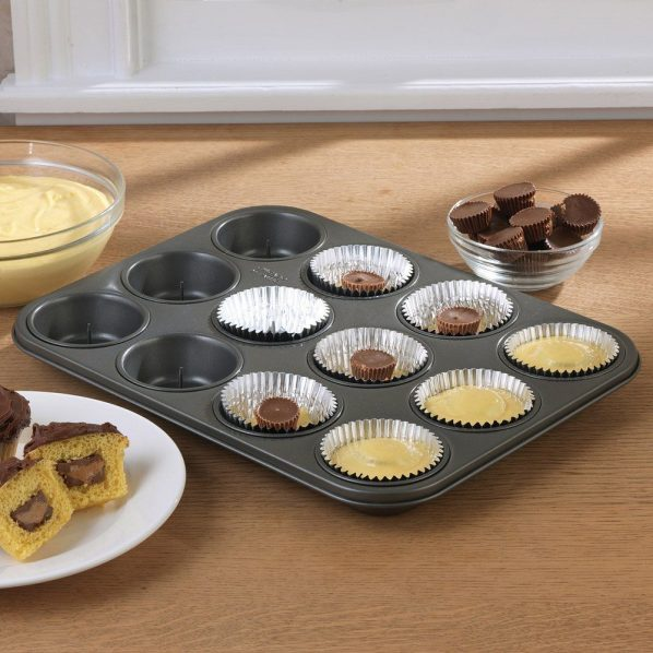 Chicago Metallic Non-Stick 12 Cup Surprise Cupcake or Muffin Pan