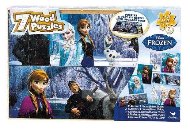 Disney Frozen 7 Wood Puzzles in Wood Storage Box Just $7.59! (reg. $14.99)