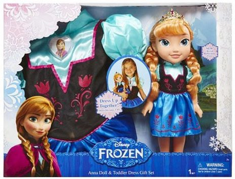 Disney Frozen Anna Doll And Toddler Dress Combo