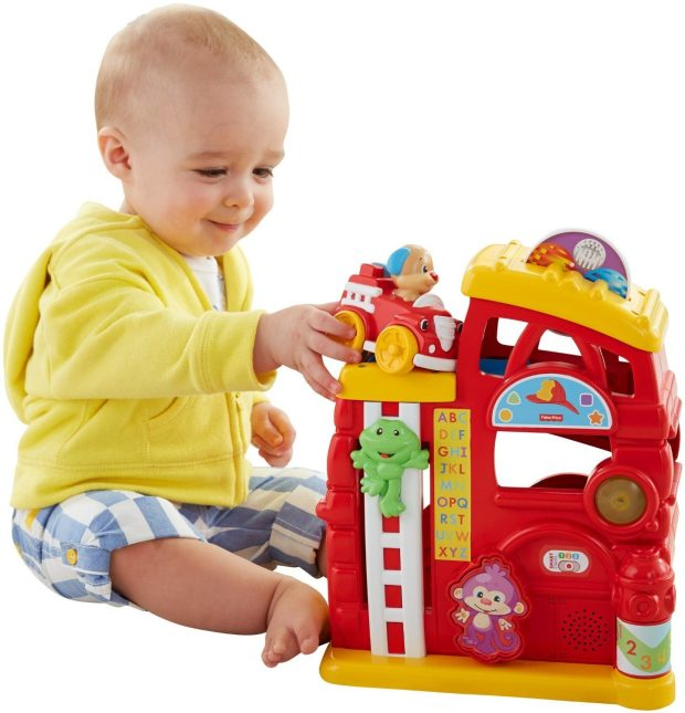 Fisher-Price Laugh & Learn Monkey's Smart Stages Firehouse Just $12.53!